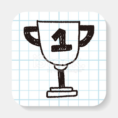Trophy doodle drawing