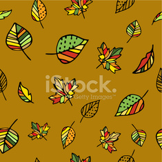 Autumn pattern with leaves.