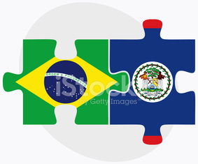 Brazil and Belize Flags