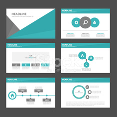 Green black Multipurpose Infographic elements presentation template flat design
