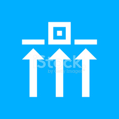Logistics icon on a blue background.