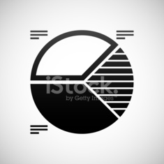 Pie Chart icon on a white background.