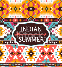 Bright pattern in tribal style