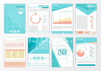 Abstract background design, business brochure big set, flyer, marketing, magazine-vector