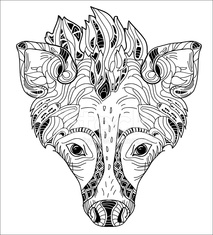 Hyena Vector Illustration