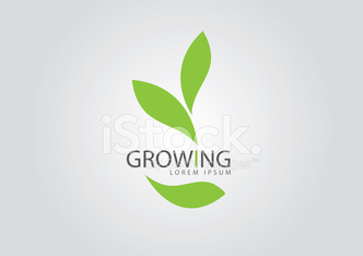ecology logo - green design - growth vector