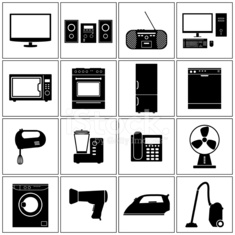 House Appliance Icons Set