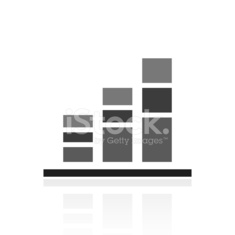 Bar Graph icon on a white background. - Prime Series