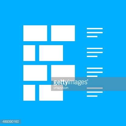 Wall icon on a blue background.