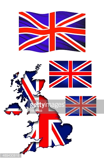UK map with flags