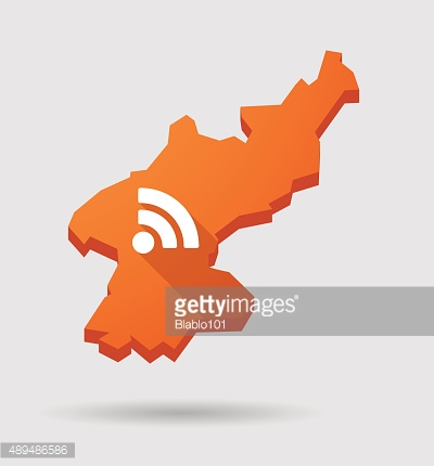 North  Korea map with a RSS feed