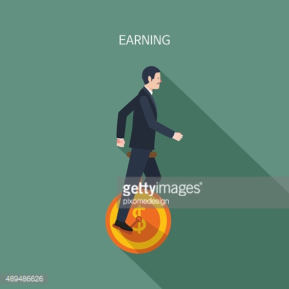 Minimal flat character of business earning concept illustrations