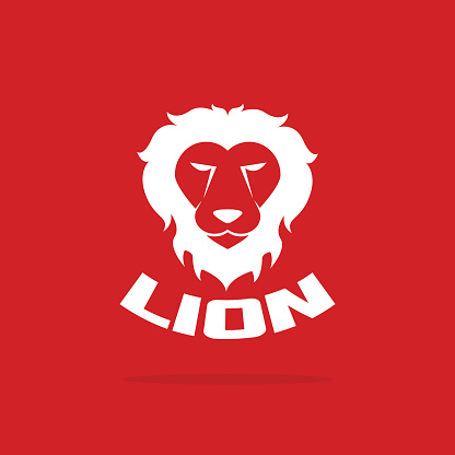 Vector images of lion head design