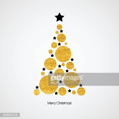 Christmas card with Christmas tree. Vector illustration
