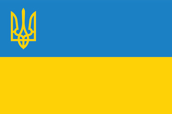 National flag and state ensign of Ukraine, vector