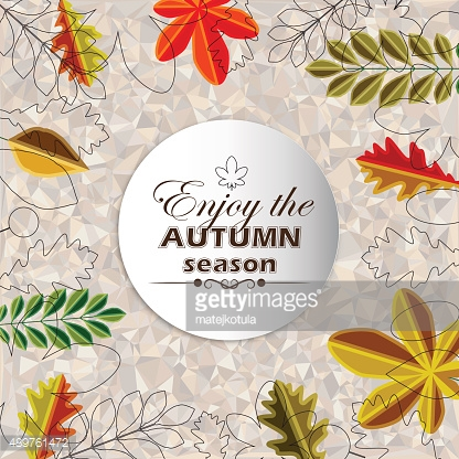 Autumn abstract floral background circle