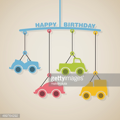 Happy birthday or baby shower arrival announcement