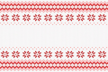 seamless red and white knitted background