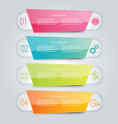 Modern inforgraphics template for banners, website templates and designs