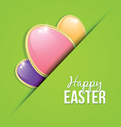 Easter eggs card template