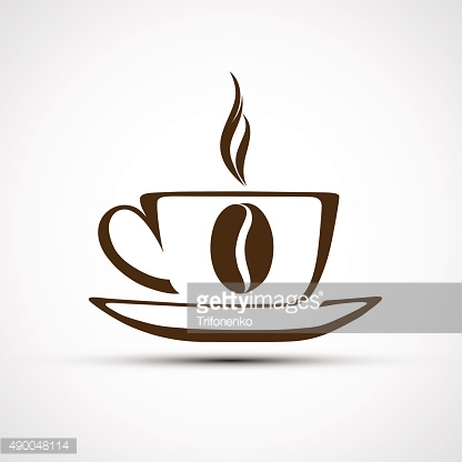 Vector icons to a cup of coffee