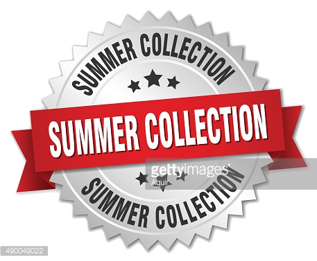summer collection 3d silver badge with red ribbon