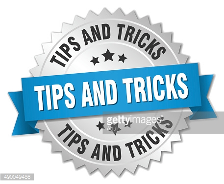 tips and tricks 3d silver badge with blue ribbon