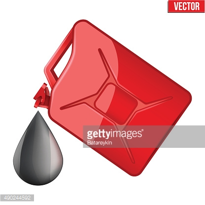 Symbol of petroleum black drop and jerrycan