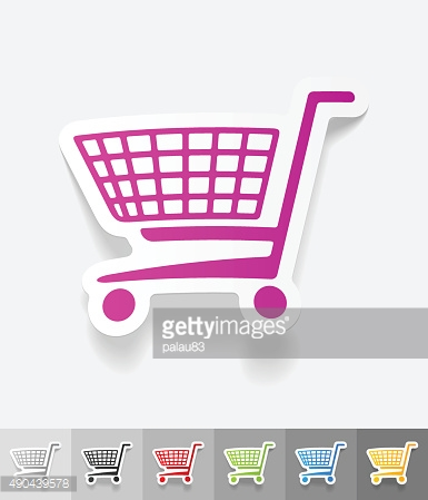 realistic design element. shopping trolley