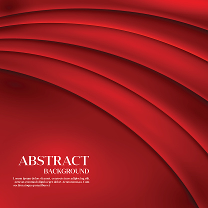 Red vector Template Abstract background with curved lines