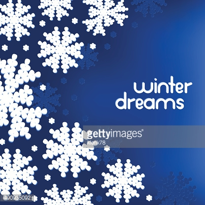 Winter background with snowflakes and place for your text