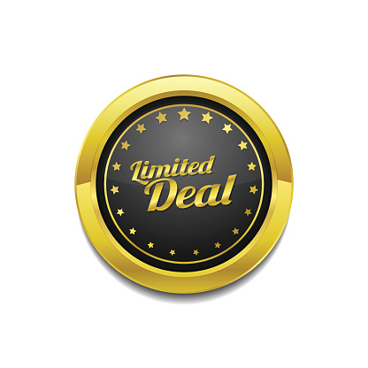 Limited Deal Golden Vector Icon Button