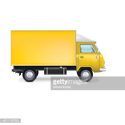 Commercial delivery cargo truck