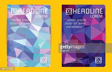 Template design Abstract polygon design vector for magazine broc