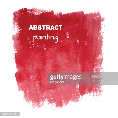 Bright red spot. Abstract stylish watercolor background