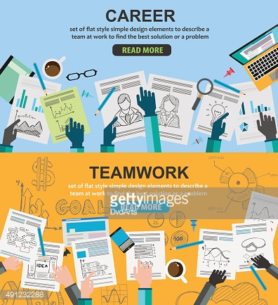 Design Concepts for team work and career, financial management
