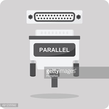 Vector of flat icon, parallel connector for computer