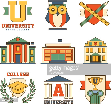 Education and University Set of Icons Vector Illustration Collection in