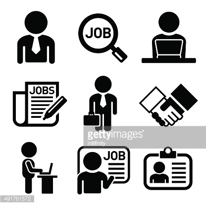 Business, Management and Human Job Resources Icons Set. Vector