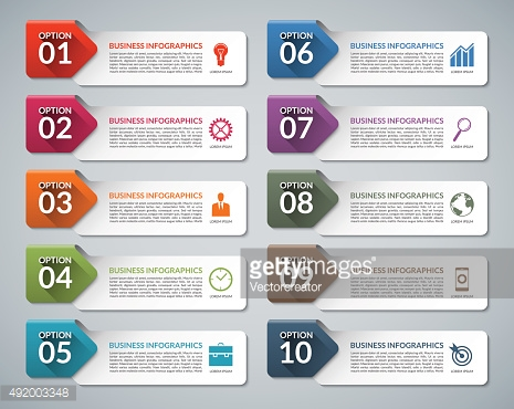 Infographic design template set with business marketing icons. Vector illustration