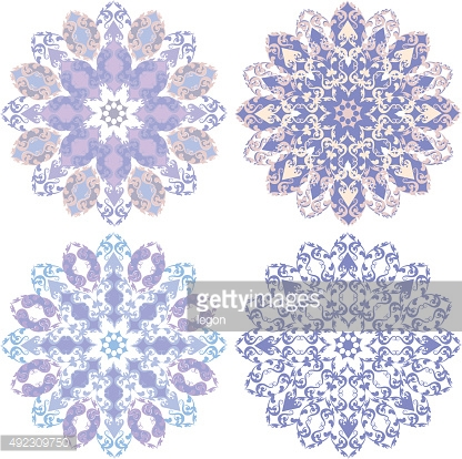 Decorative floral ornament in East style.