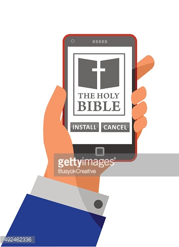 Bible application about to install on mobile phone