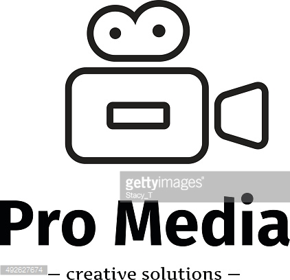 Vector trendy line style camera icon. Media business symbol