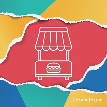 shopping cart line icon