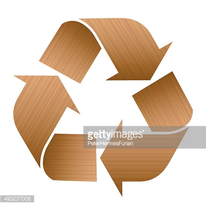 Recycling Symbol Wood Texture