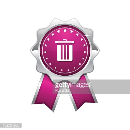 Recycle Bin Pink Vector Icon Design