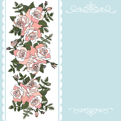 Decorative background with rose