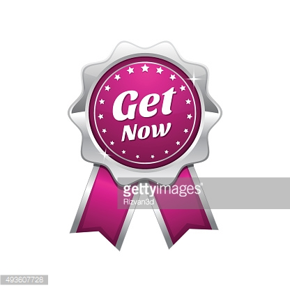 Get Now Pink Vector Icon Design