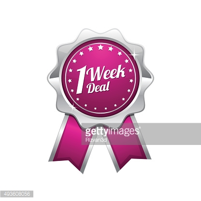 1 Week Deal Pink Vector Icon Design
