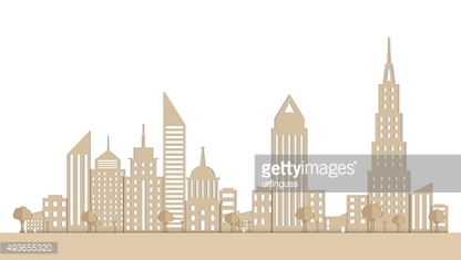 Paper Town.  Vector Illustration
